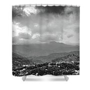 Storms In Contrast Shower Curtain