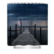 Storms On The Dock Shower Curtain