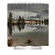 Storms Over Talbot Lake Shower Curtain