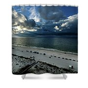 Storms Over The Gulf Of Mexico Shower Curtain