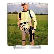 Stormtrooper Barney Fife Shower Curtain