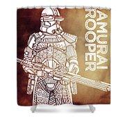 Stormtrooper - Star Wars Art - Brown Shower Curtain