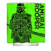 Stormtrooper - Green - Star Wars Art Shower Curtain