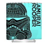 Stormtrooper Helmet - Blue - Star Wars Art Shower Curtain