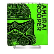 Stormtrooper Helmet - Green - Star Wars Art Shower Curtain