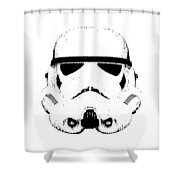 Stormtrooper Helmet Star Wars Tee Black Ink Shower Curtain