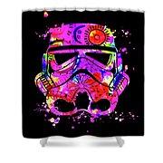 Stormtrooper Mask Rainbow 10 Shower Curtain