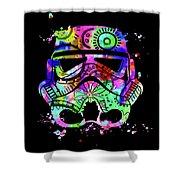 Stormtrooper Mask Rainbow 6 Shower Curtain