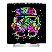 Stormtrooper Mask Rainbow 8 Shower Curtain