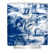 Stormy Abstract Shower Curtain