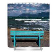 Stormy Aegean Sea Shower Curtain