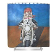 Stormy And Fifi Shower Curtain