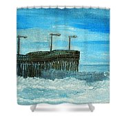 Stormy At Morro Bay Shower Curtain