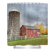 Stormy Autumn Skies Square Shower Curtain
