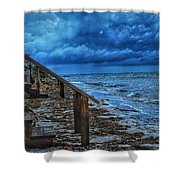 Stormy Backyard  Shower Curtain