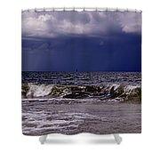 Stormy Beach Shower Curtain by Carolyn Marshall