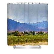 Stormy California Mountains Shower Curtain