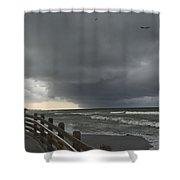 Stormy Caspersen Beach  Shower Curtain