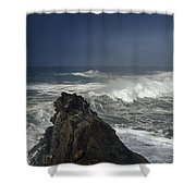 Stormy Day At Sunset Bay Shower Curtain