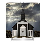 Stormy Day At The Black Church Shower Curtain