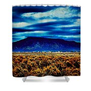 Stormy Day In Taos Shower Curtain