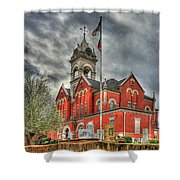 Stormy Day Jones County Georgia Court House Art Shower Curtain
