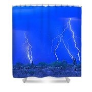 Stormy Desert Shower Curtain
