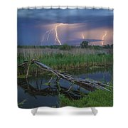 Stormy Evening Shower Curtain