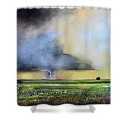 Stormy Field Shower Curtain