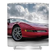 Stormy Forecast Shower Curtain