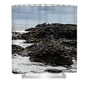Stormy Giant's Causeway Shower Curtain
