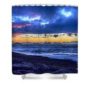 Stormy Icelandic Sunset Shower Curtain