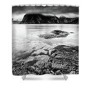 Stormy Lofoten Shower Curtain