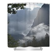 Stormy Morning In Glacier Shower Curtain