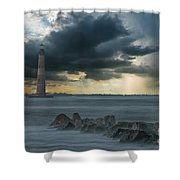 Stormy Morris Island Shower Curtain