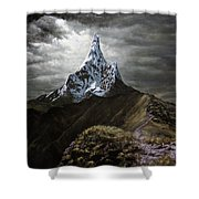 Stormy Mountain Shower Curtain