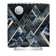 Stormy Mountains Shower Curtain by Elisabeth Fredriksson