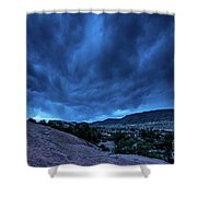 Stormy Night Sky Arches National Park - Utah Shower Curtain
