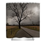 Stormy Roads Shower Curtain