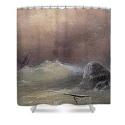Stormy Sea 1887 Ivan Konstantinovich Aivazovsky Shower Curtain