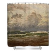 Stormy Sea At Bude Shower Curtain