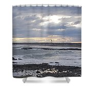 Stormy Seas And Sky Shower Curtain