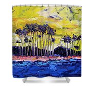 Stormy Shores Shower Curtain