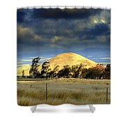 Stormy Skies Over Sunset Cinder Cone Shower Curtain