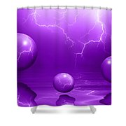Stormy Skies - Purple Shower Curtain