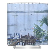 Stormy Skull Creek Shower Curtain