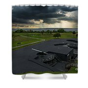 Stormy Sky Over Fort Moultrie Shower Curtain