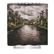 Stormy Streams Shower Curtain