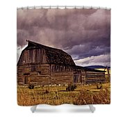 Stormy Sunset At Moulton Barn Shower Curtain