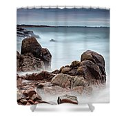 Stormy Sunset Beach Shower Curtain